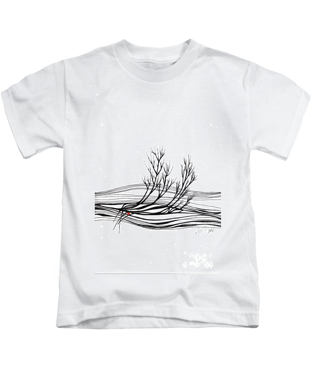 Trees Kids T-Shirt featuring the drawing The Seed by Aniko Hencz