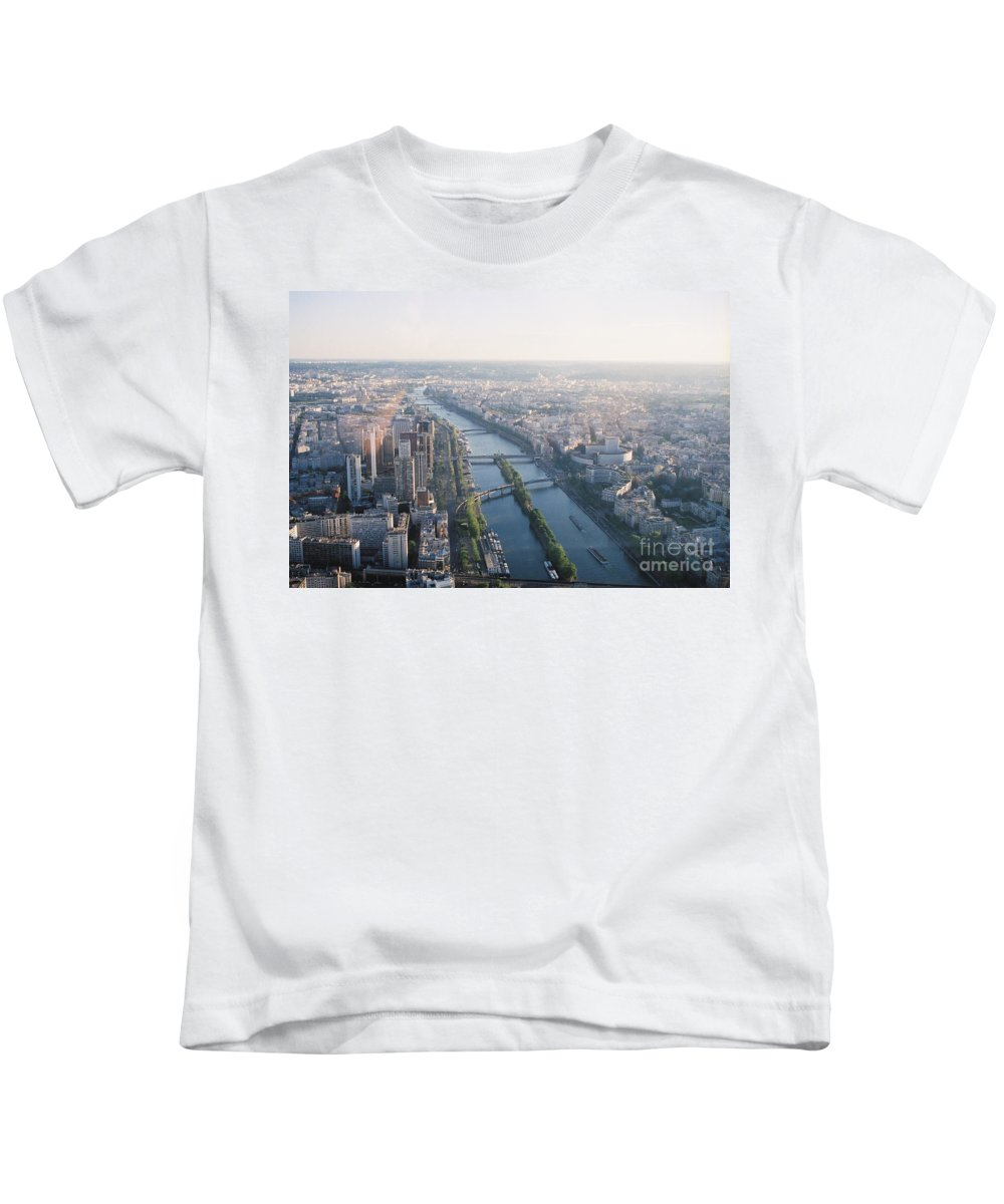 City Kids T-Shirt featuring the photograph The Seine River In Paris by Nadine Rippelmeyer