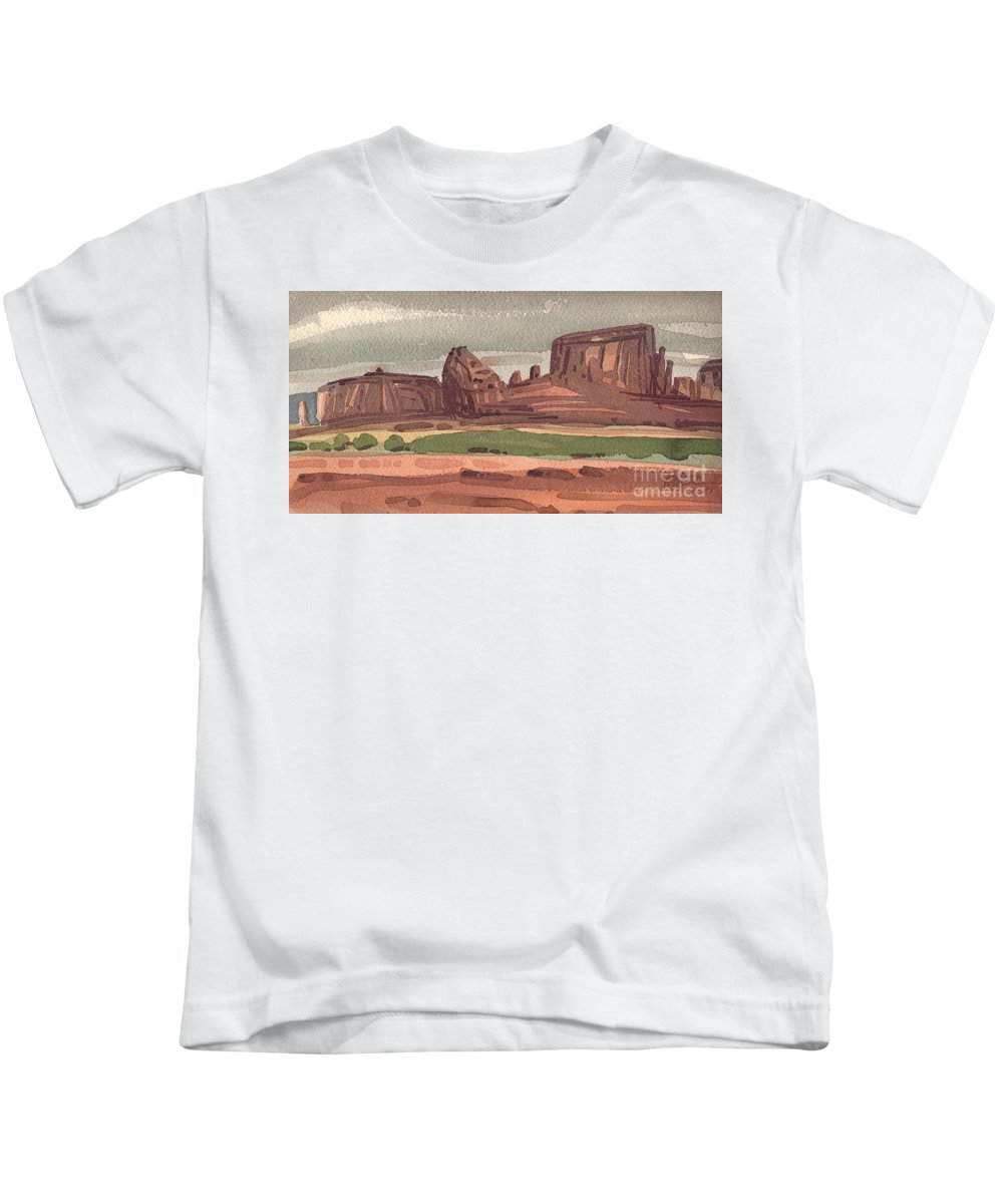 Sentinel Kids T-Shirt featuring the painting The Sentinel by Donald Maier