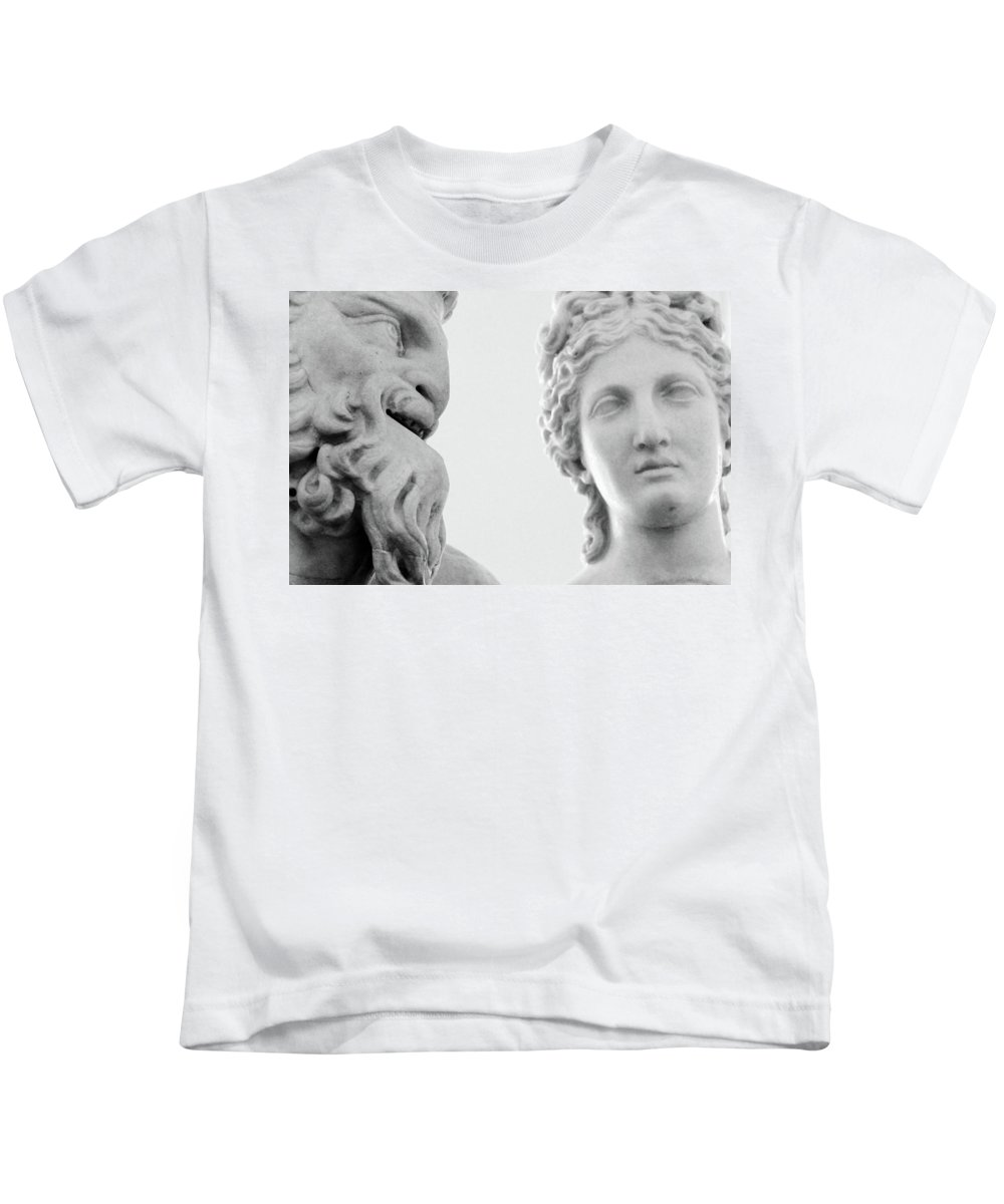Rome Kids T-Shirt featuring the photograph The Smiling Devil by Munir Alawi