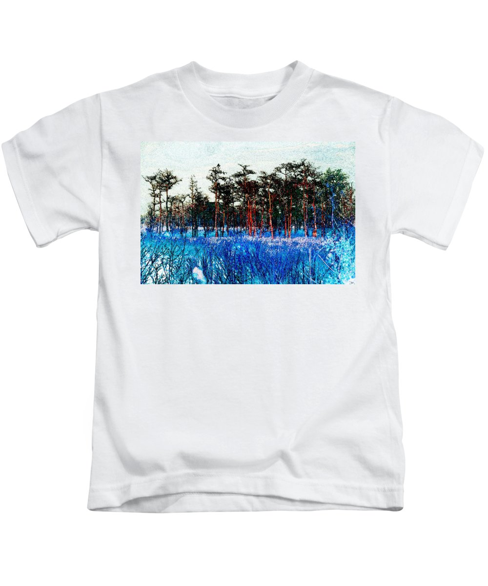 Art Kids T-Shirt featuring the painting The Snow King 1899 by David Lee Thompson