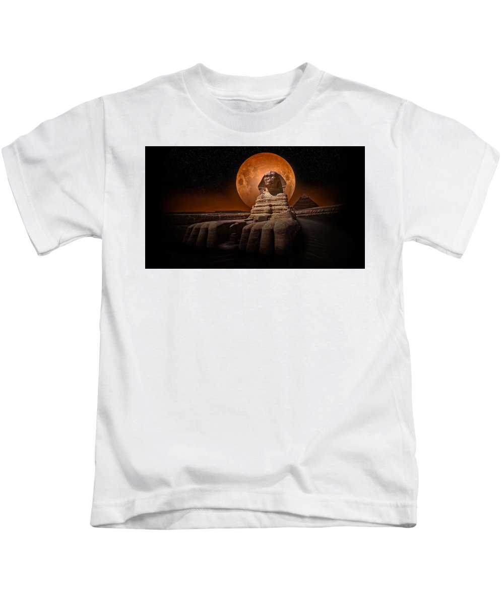 Sphinx Kids T-Shirt featuring the photograph The Sphinx by Nasser Osman