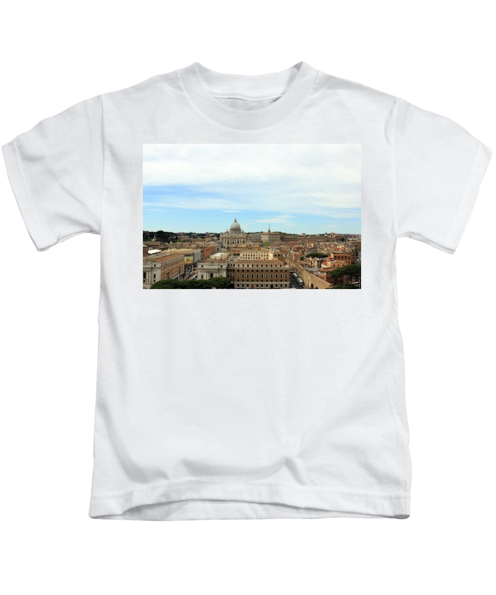 St. Peter's Basiclica Kids T-Shirt featuring the photograph The Way To St. Peter's Basilica by Munir Alawi