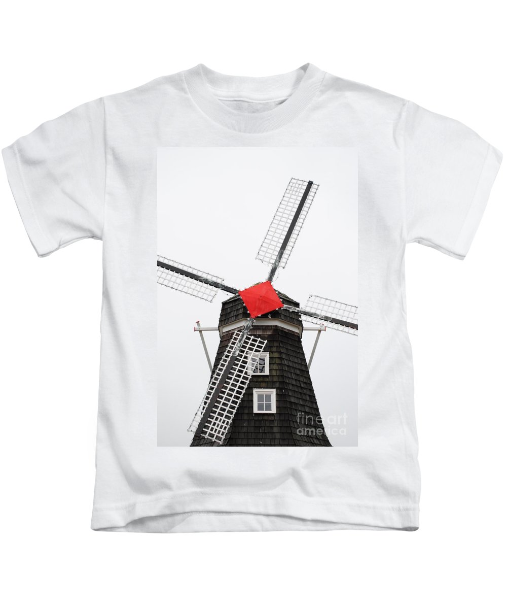 Dutch Kids T-Shirt featuring the photograph The Windmill by Jost Houk