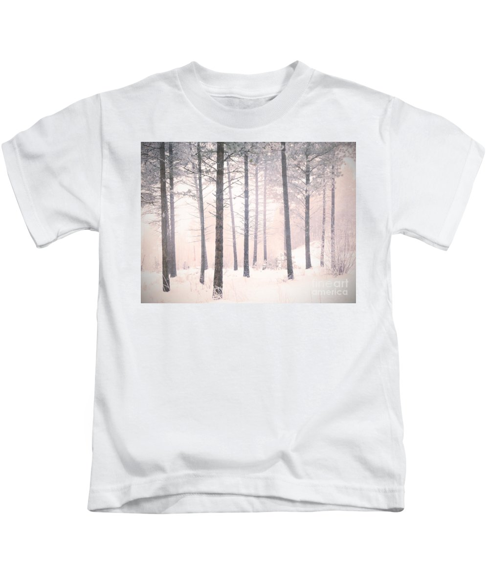 Trees Kids T-Shirt featuring the photograph The Winter Forest by Tara Turner