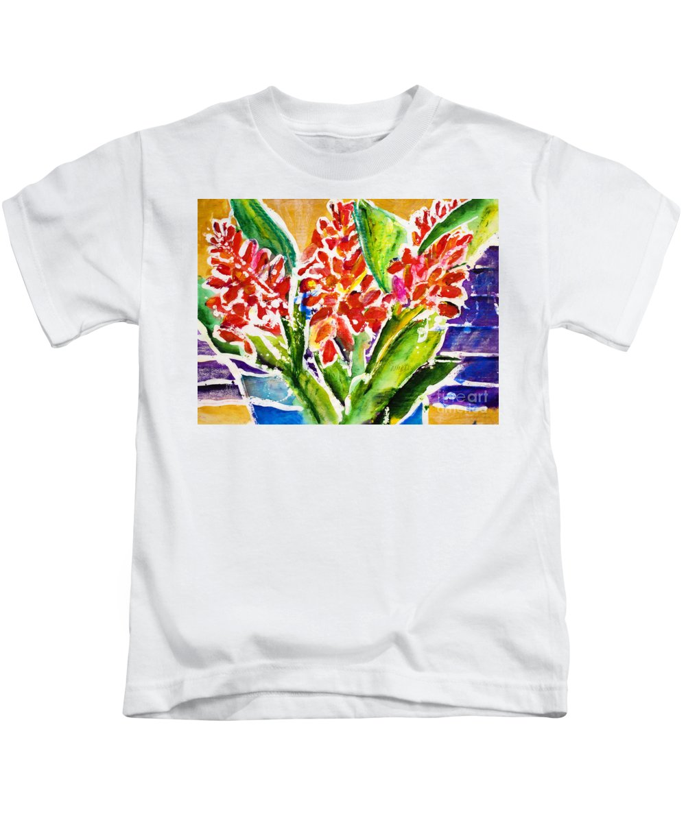 Acrylic Kids T-Shirt featuring the painting Three Gingers by Julie Kerns Schaper - Printscapes