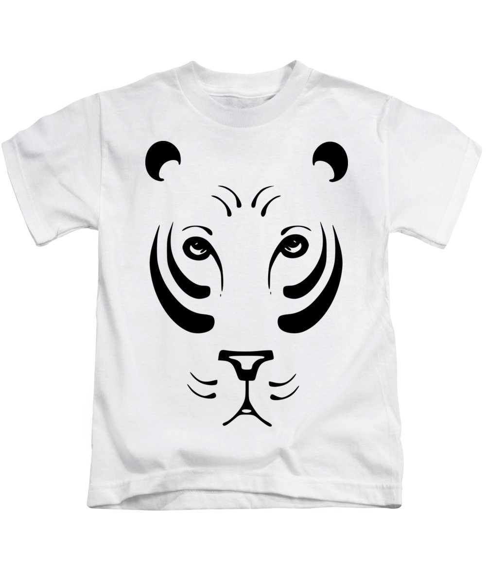 Animal Kids T-Shirt featuring the digital art Tiger by Frederick Holiday