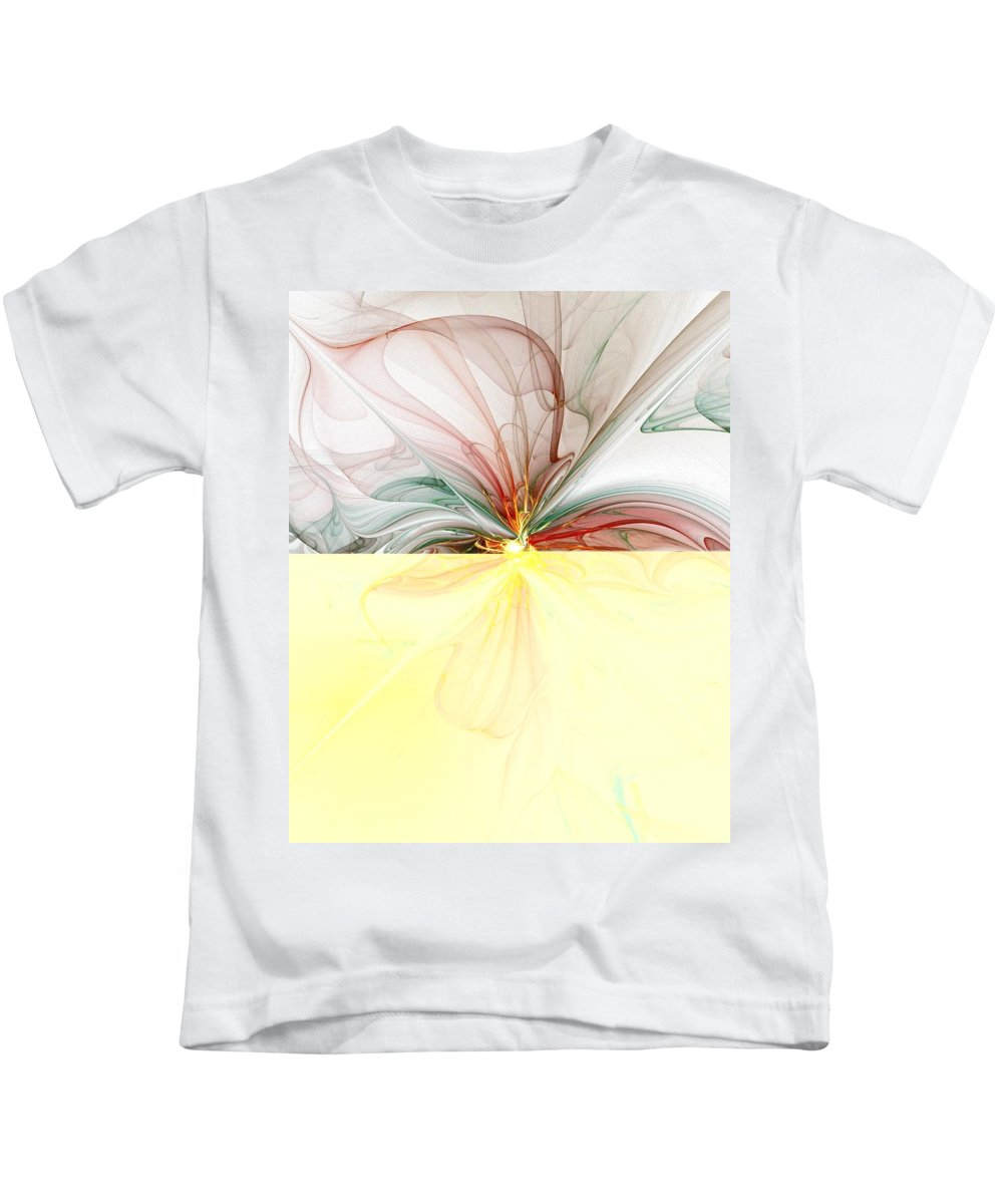 Digital Art Kids T-Shirt featuring the digital art Tiger Lily by Amanda Moore