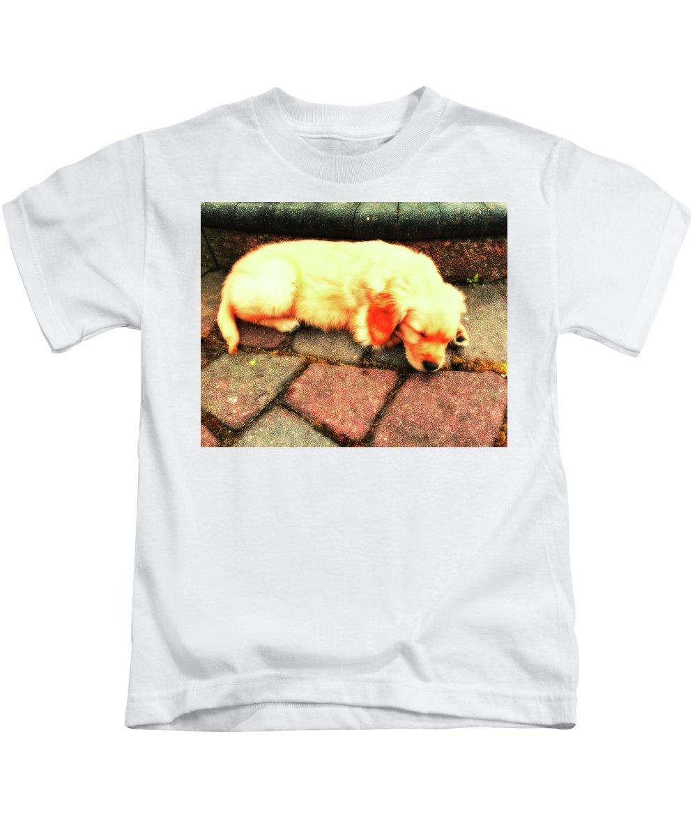 Tilly Kids T-Shirt featuring the photograph Tilly Resting by John Feiser