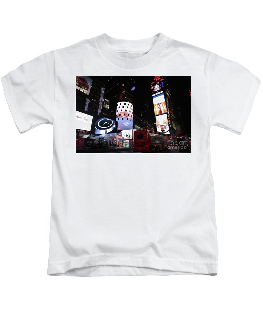 Destination Kids T-Shirt featuring the photograph Times Square On News Year Eve by Douglas Sacha