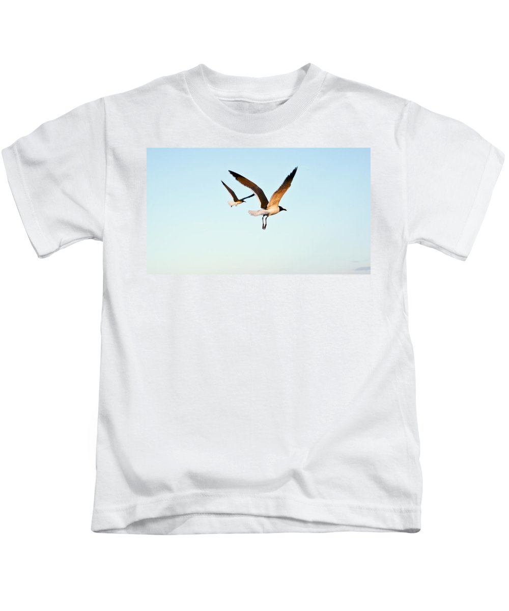 Two Kids T-Shirt featuring the photograph Together by Marilyn Hunt