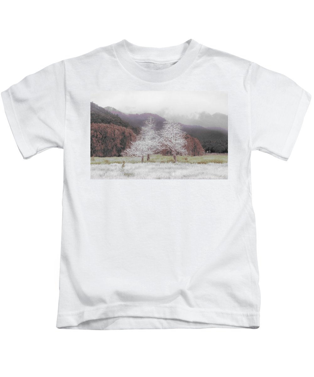 Landscape Kids T-Shirt featuring the photograph Together We Stand by Holly Kempe