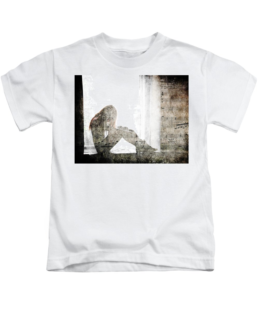 Tone Kids T-Shirt featuring the photograph Tons Of The Loneliness by Alex Art and Photo