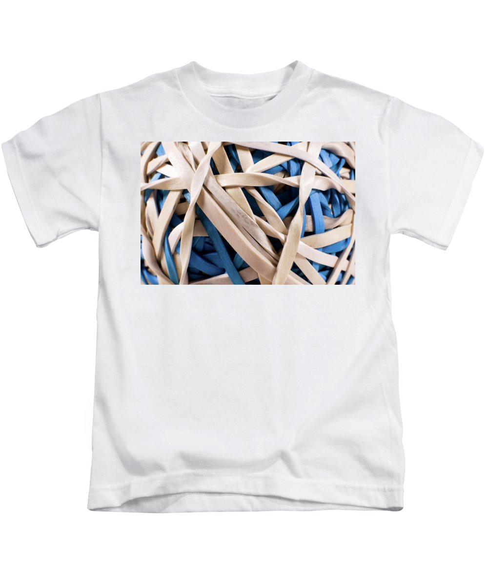 Abstract Kids T-Shirt featuring the photograph Too Much Time And Elastic by Alan Look