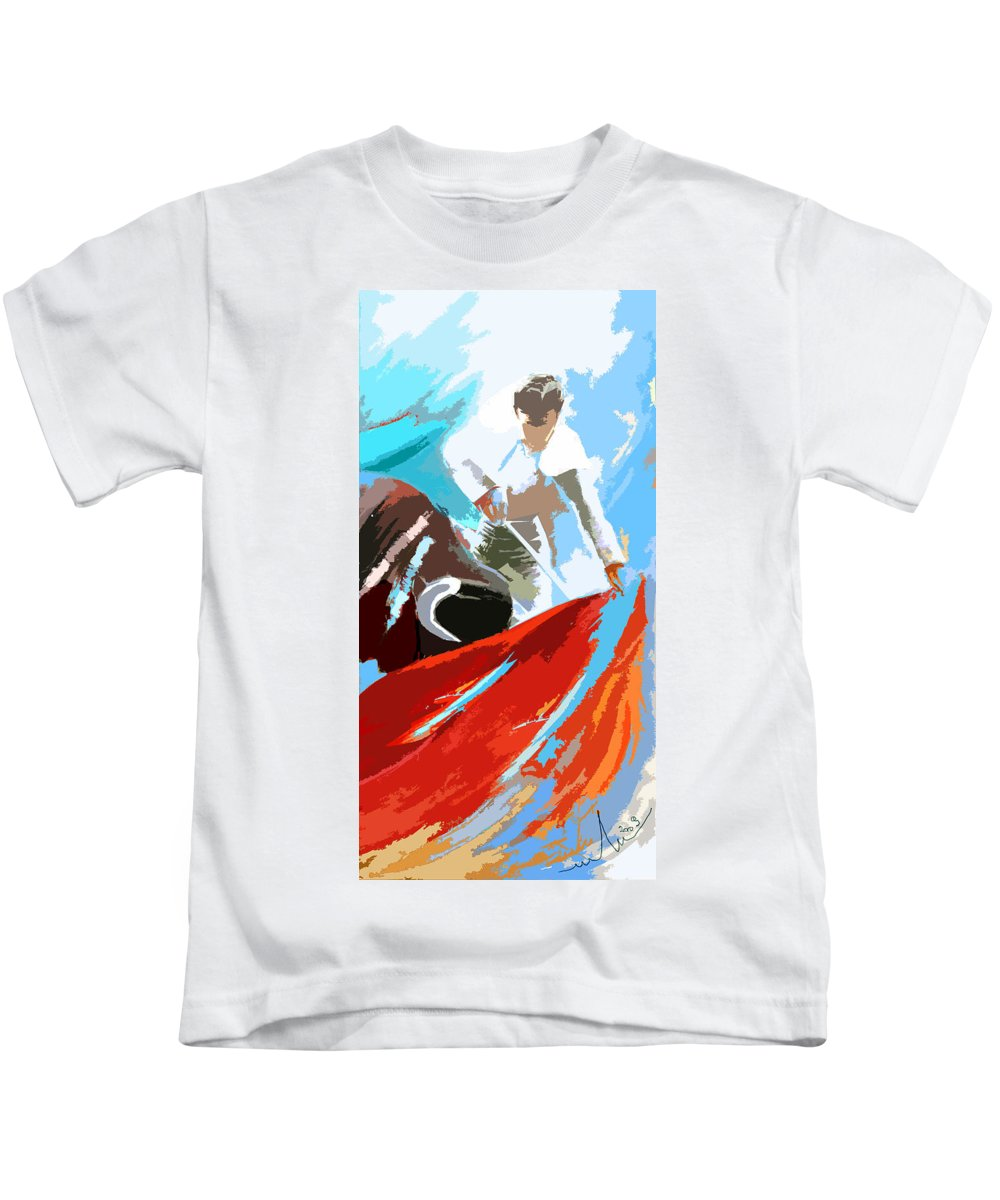 Animals Kids T-Shirt featuring the painting Toroscape 32 by Miki De Goodaboom