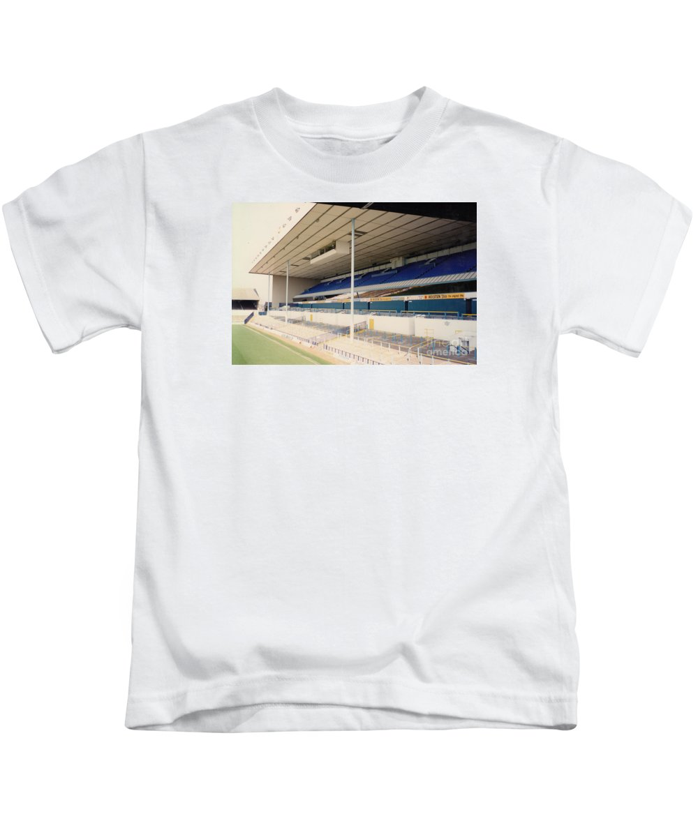 Kids T-Shirt featuring the photograph Tottenham - White Hart Lane - East Stand 3 - April 1991 by Legendary Football Grounds