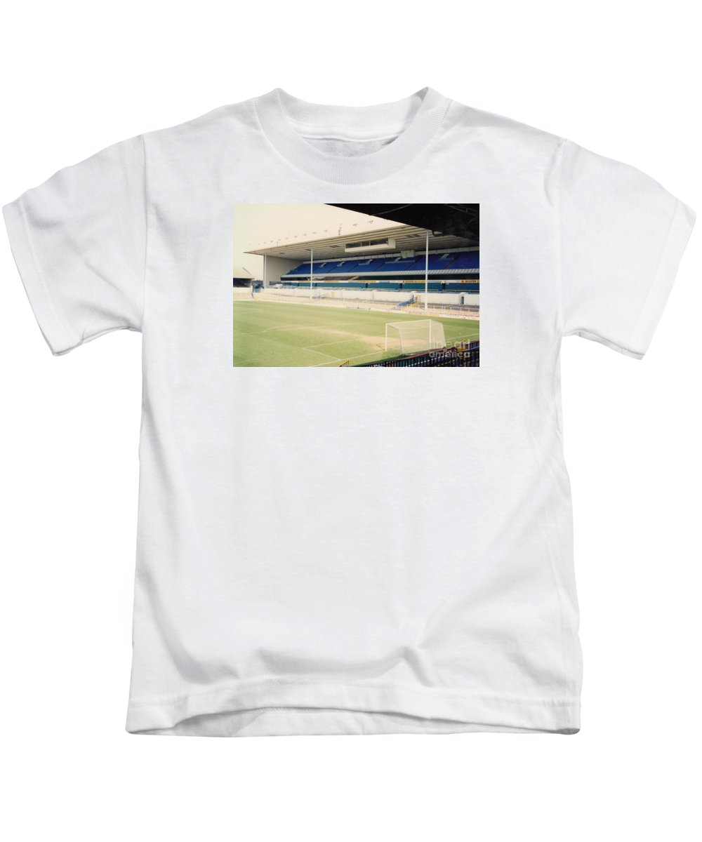 Kids T-Shirt featuring the photograph Tottenham - White Hart Lane - East Stand 4 - April 1991 by Legendary Football Grounds