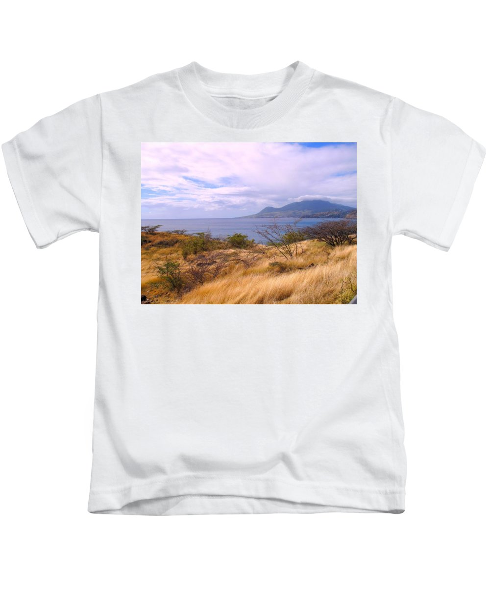 St Kitts Kids T-Shirt featuring the photograph Towards Basseterre by Ian MacDonald