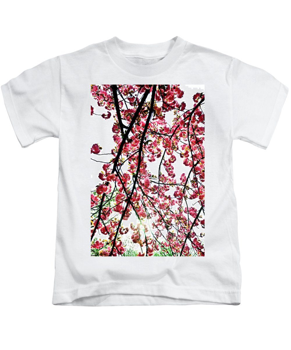 Cherry Tree Kids T-Shirt featuring the photograph Tree Blossoms by Scott Sawyer