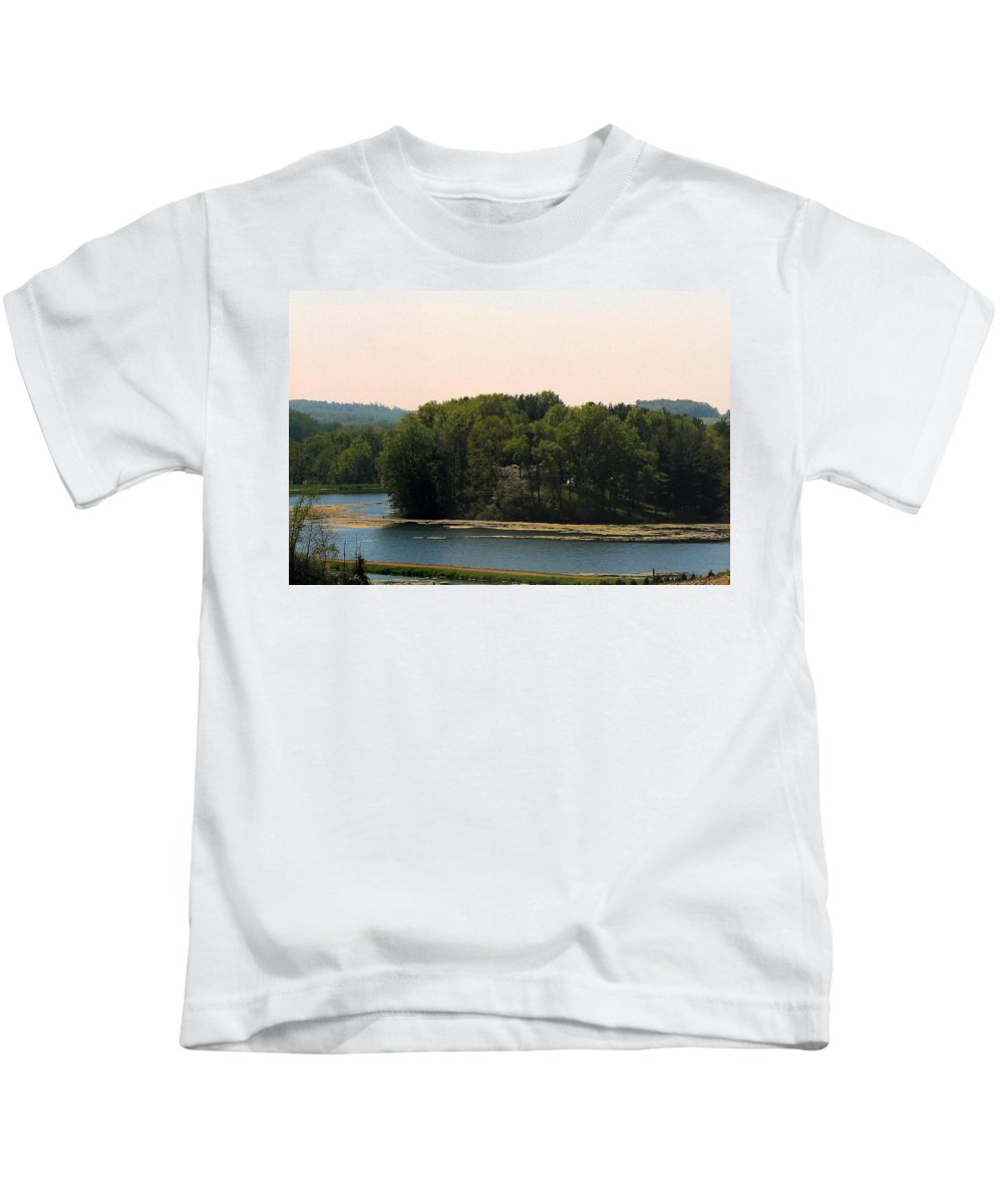 Trees Kids T-Shirt featuring the photograph Tree Island by R A W M
