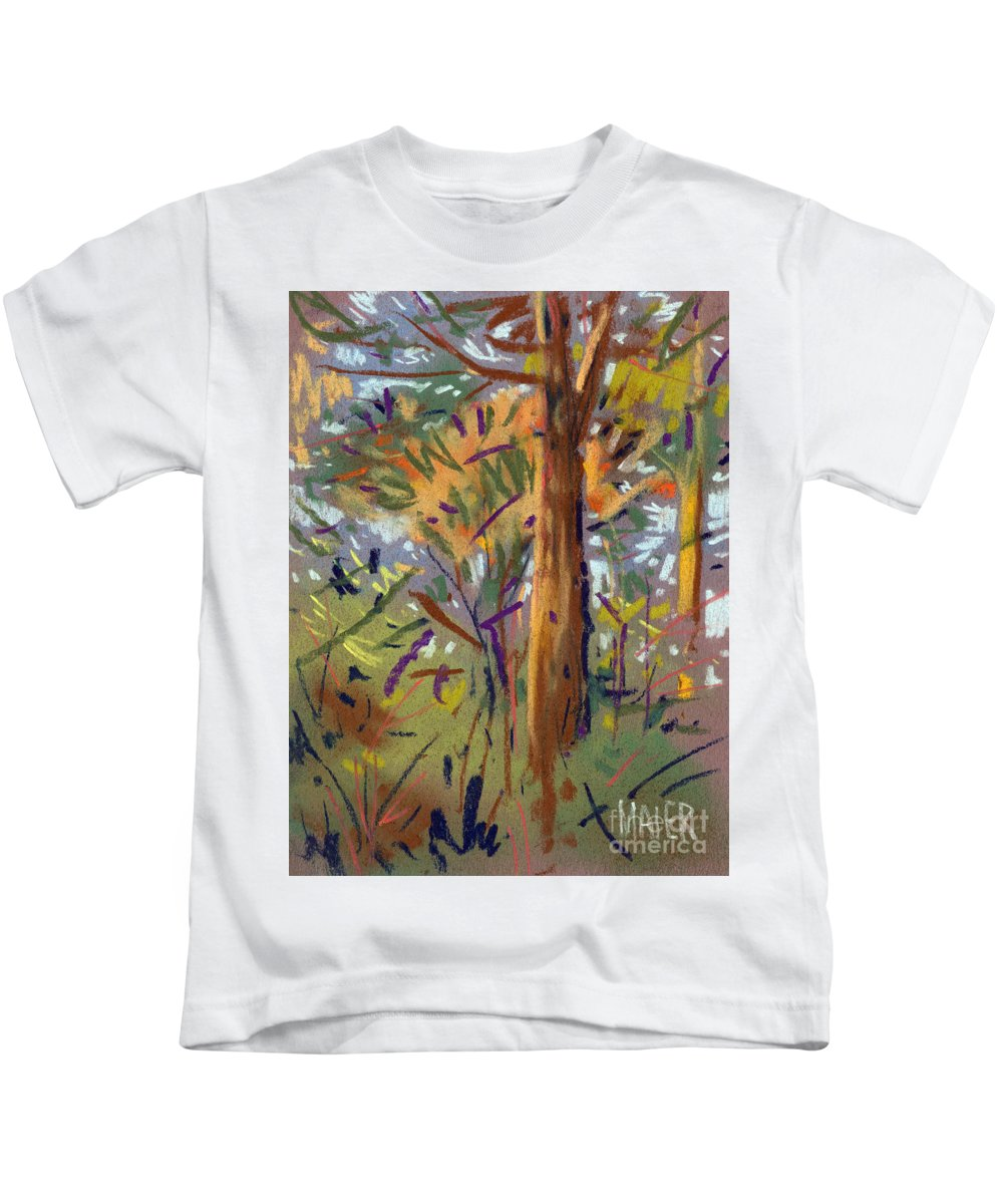 Trees Kids T-Shirt featuring the drawing Tree Sketch by Donald Maier