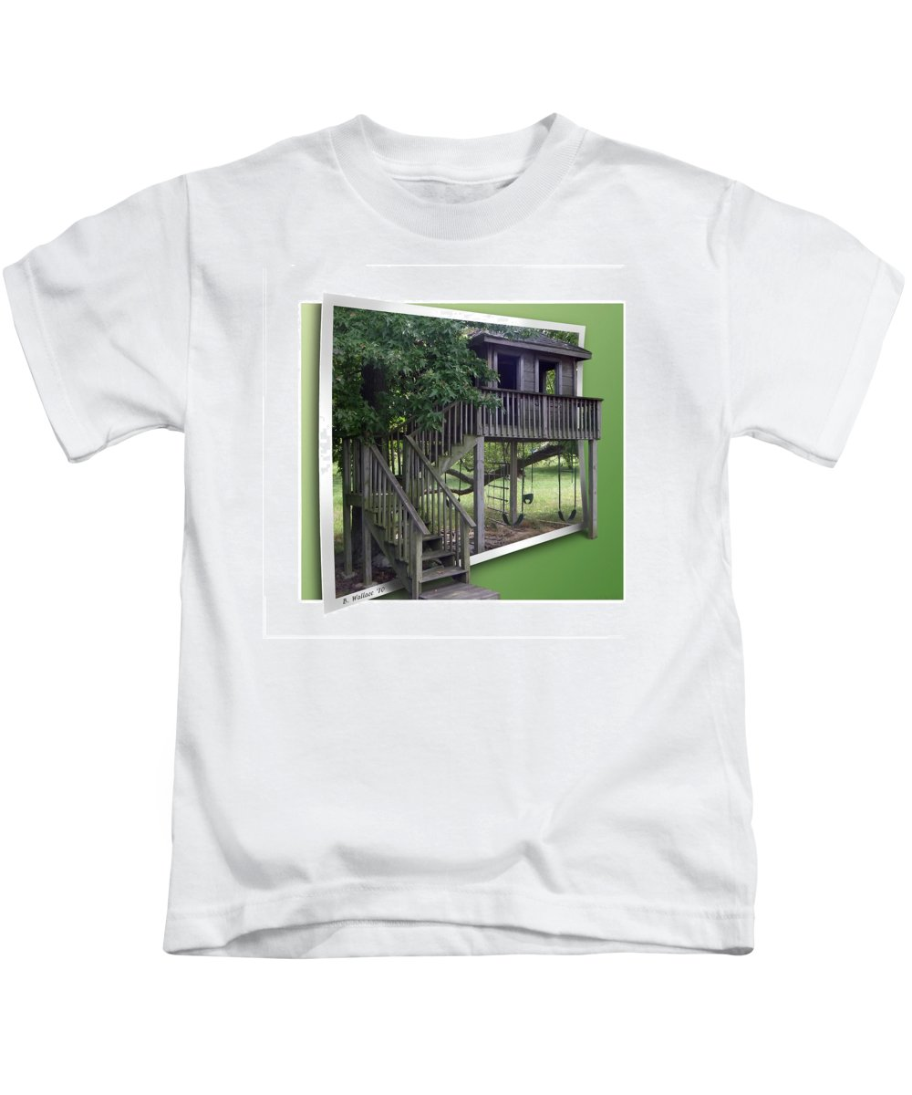 2d Kids T-Shirt featuring the photograph Treehouse Playground by Brian Wallace