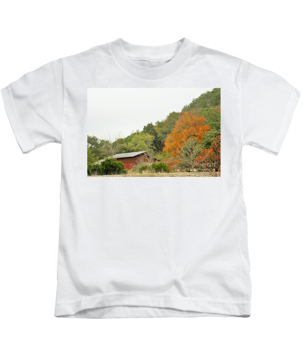 Kids T-Shirt featuring the photograph Trees 025 by Jeff Downs