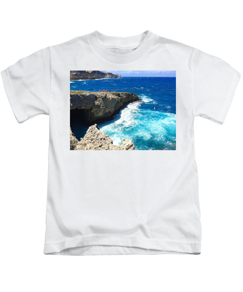 Guadeloupe Kids T-Shirt featuring the photograph Trou Madame Coco, Guadeloupe by Cristina Stefan