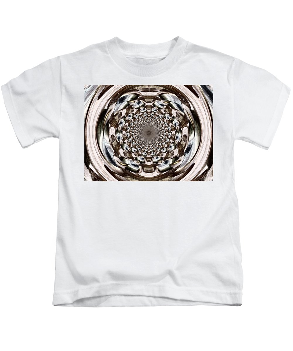 Orb Kids T-Shirt featuring the digital art Tunnel Vision by Charleen Treasures