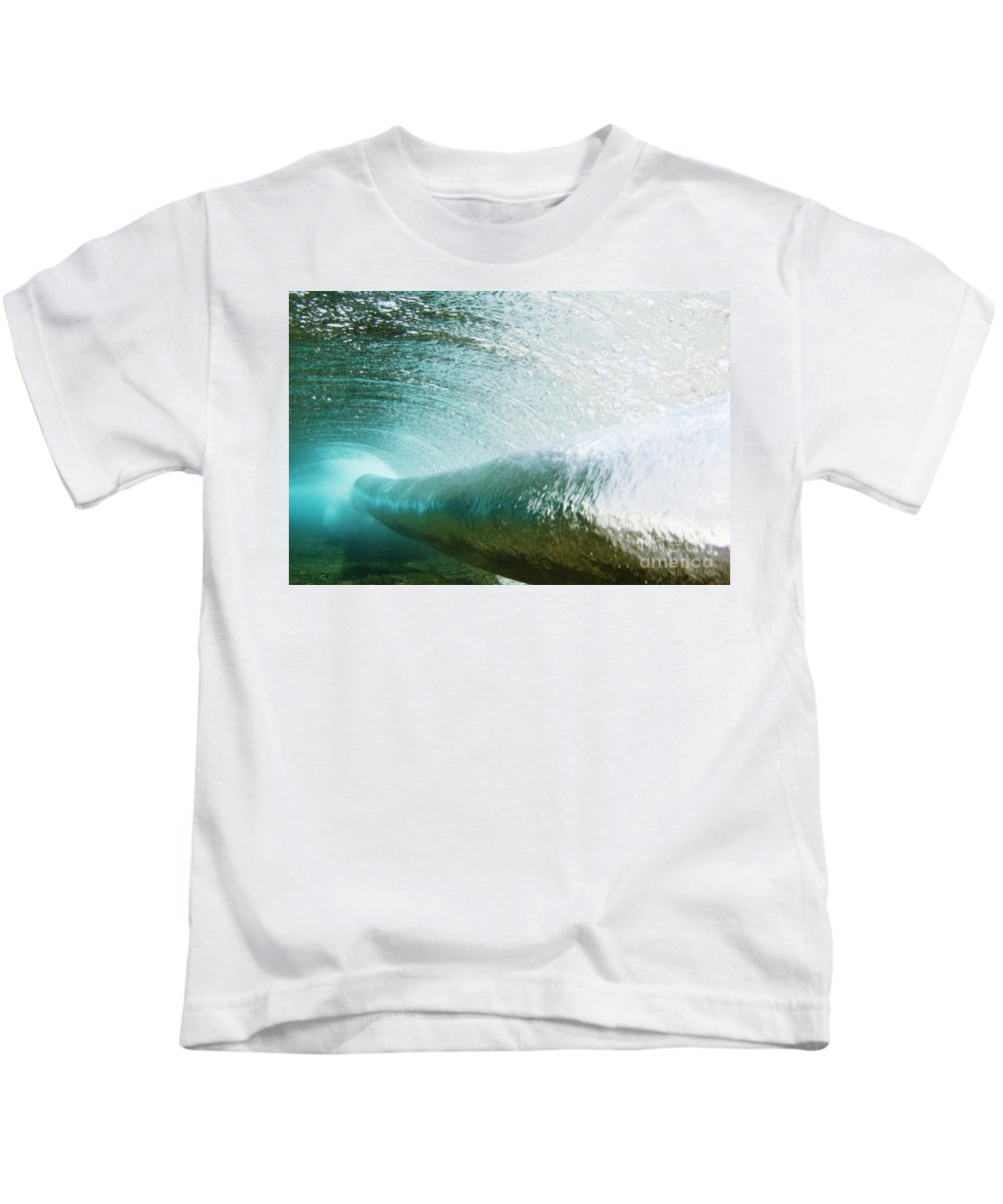 Amaze Kids T-Shirt featuring the photograph Underwater Barrel by Vince Cavataio - Printscapes