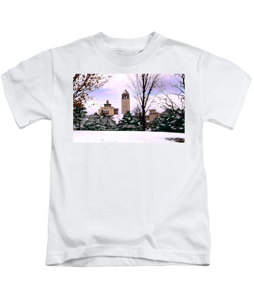 Landscape Kids T-Shirt featuring the photograph Unity Village by Steve Karol