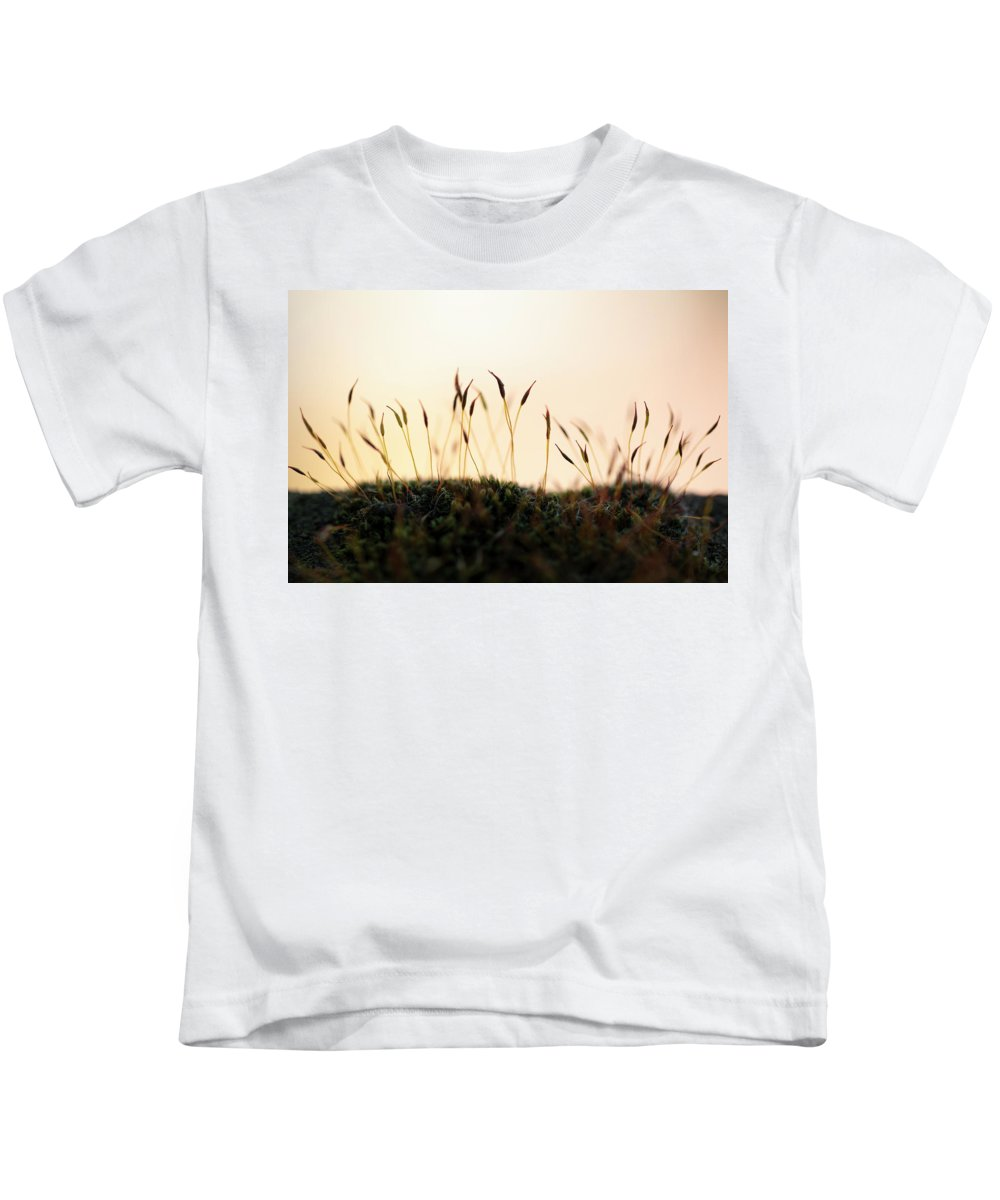 Blades Kids T-Shirt featuring the photograph Unuusual Sunset I by Stefania Levi