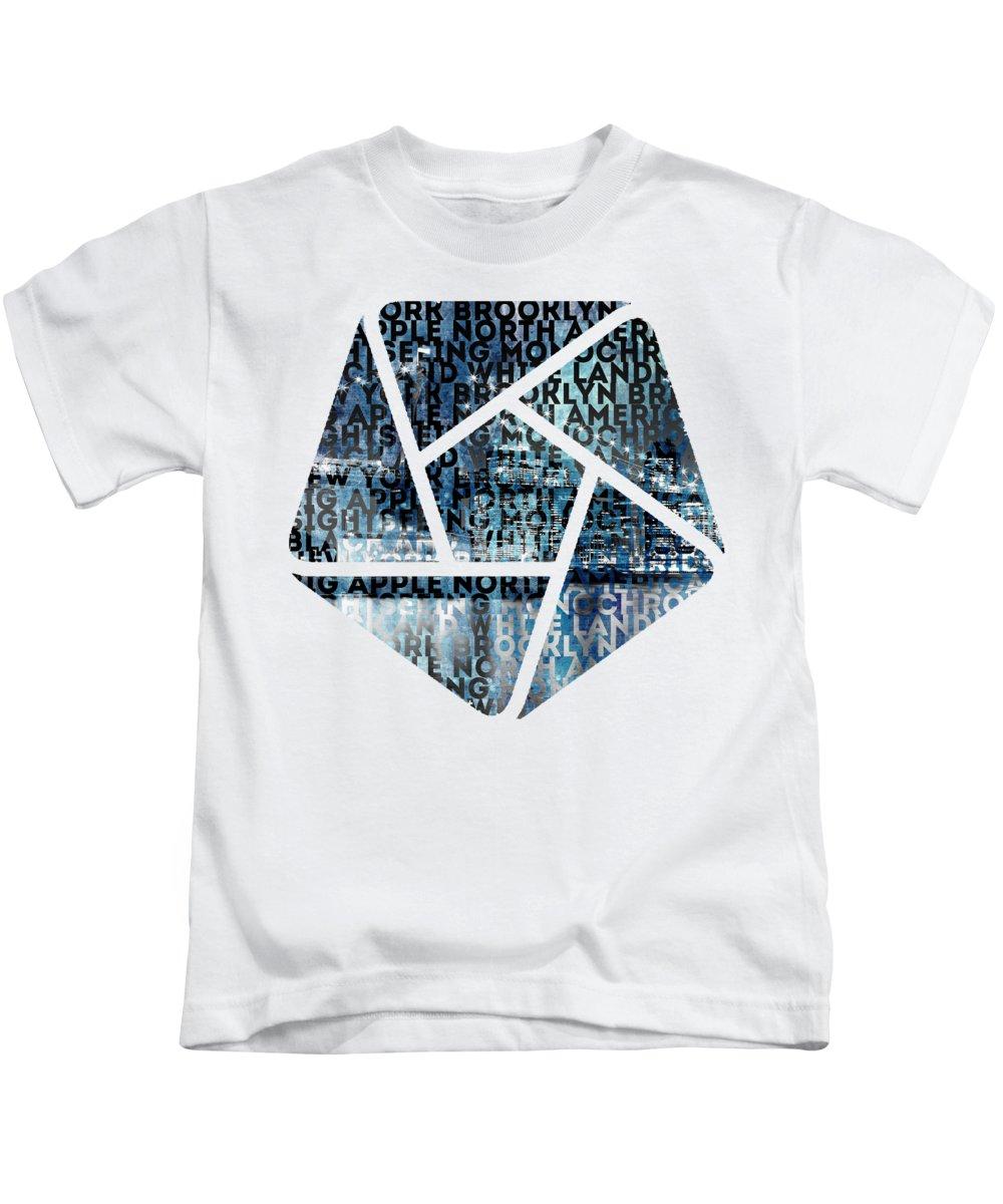 Manhattan Skyline Photographs Kids T-Shirts