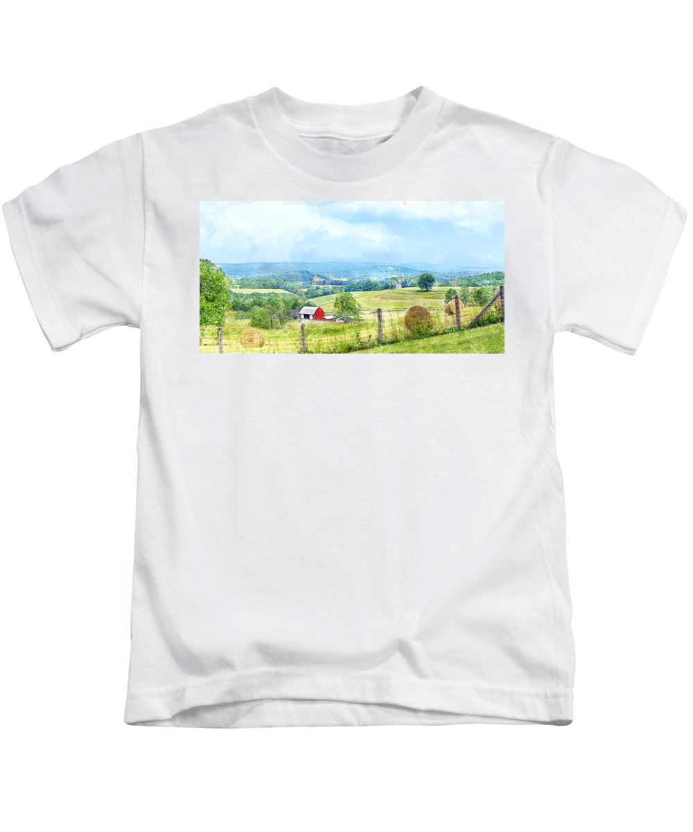 Valley Kids T-Shirt featuring the photograph Valley Farm by Francesa Miller