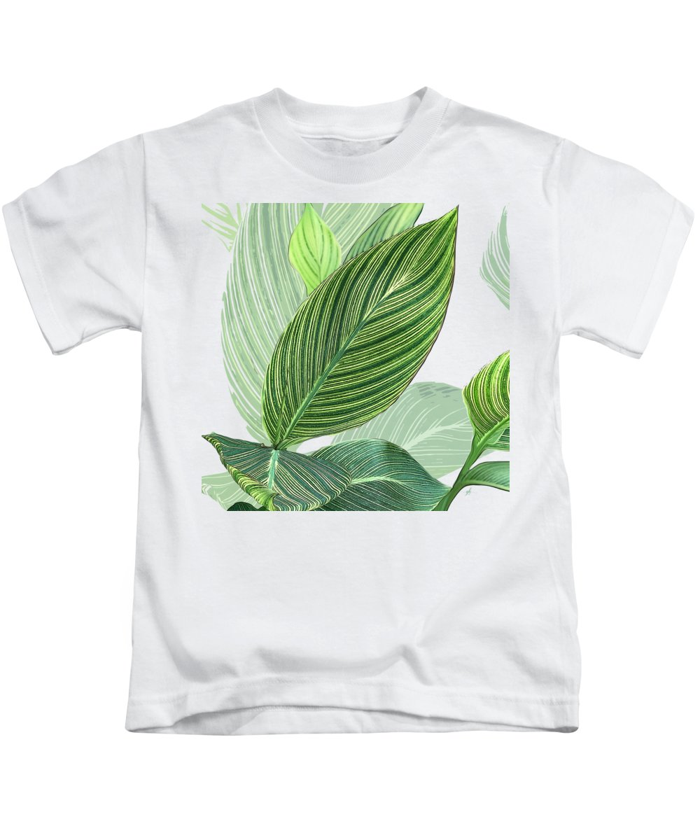 Foliage Kids T-Shirt featuring the digital art Variegated by Gina Harrison