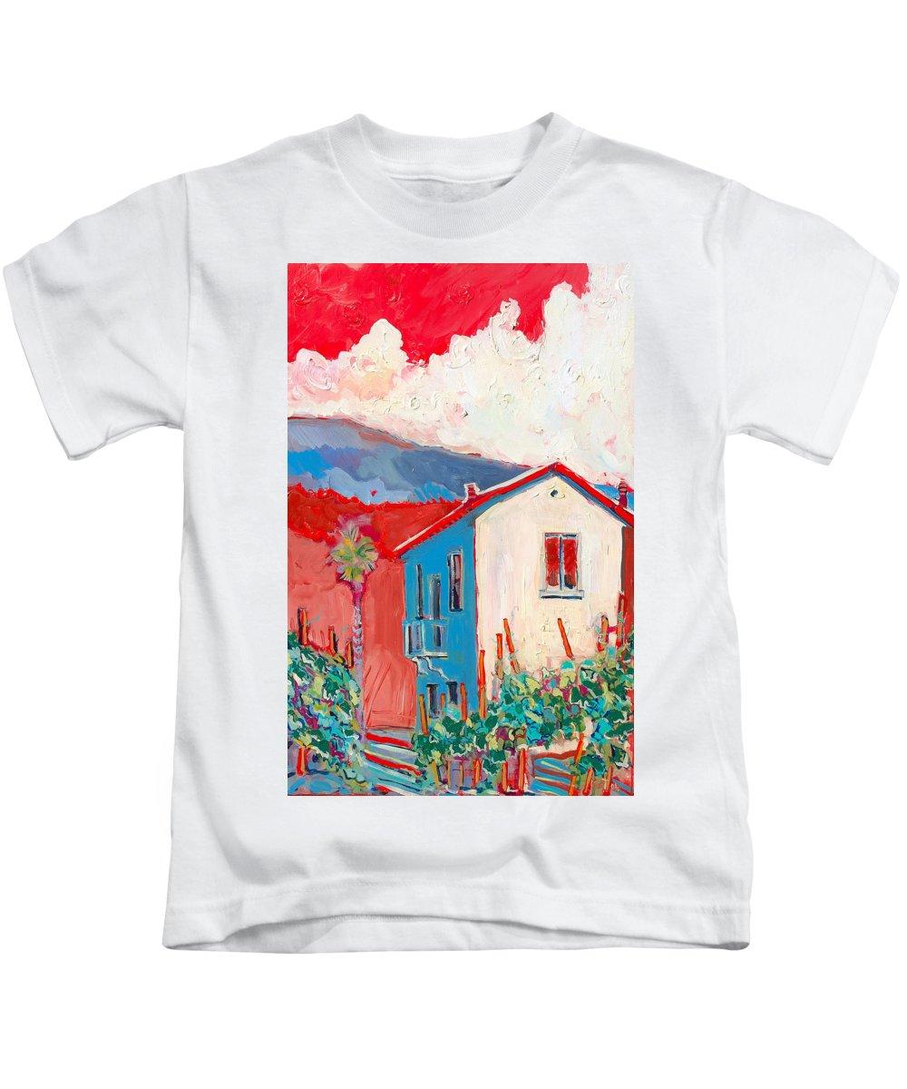 Tuscany Kids T-Shirt featuring the painting Vecchio Casa by Kurt Hausmann