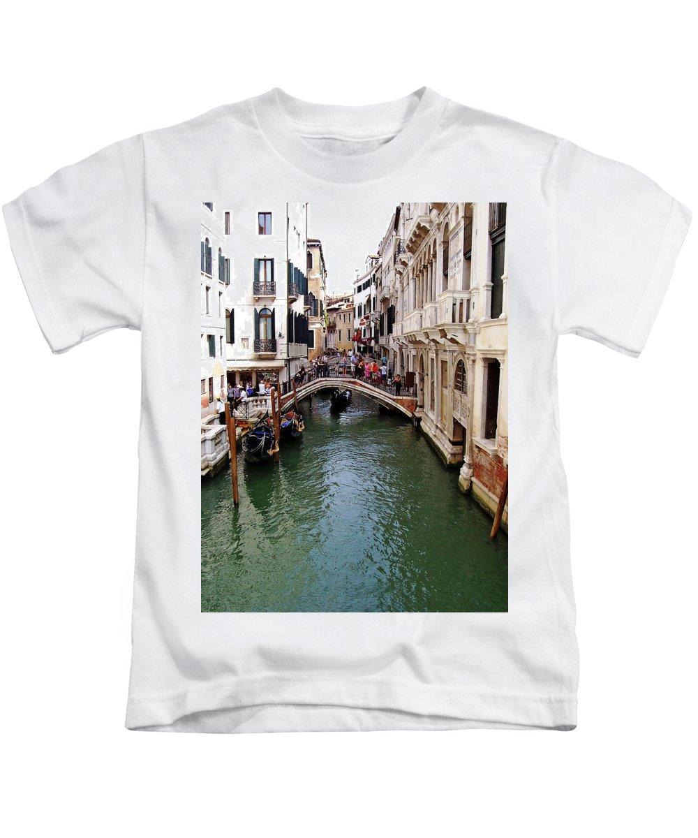 Venice Kids T-Shirt featuring the photograph Venetian Bridge by Debbie Oppermann