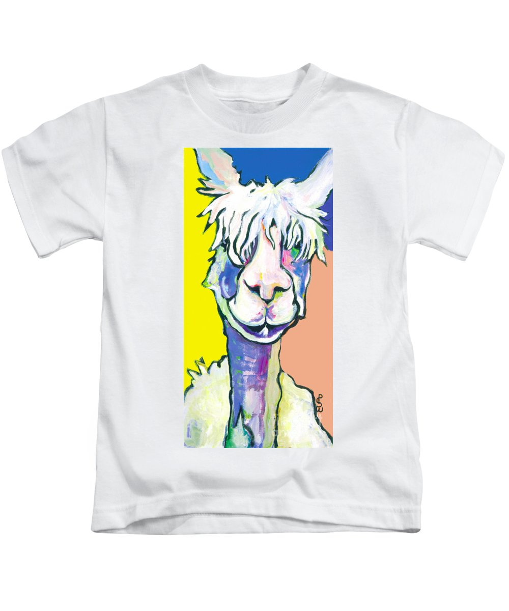 Mountain Animal Kids T-Shirt featuring the painting Veronica by Pat Saunders-White