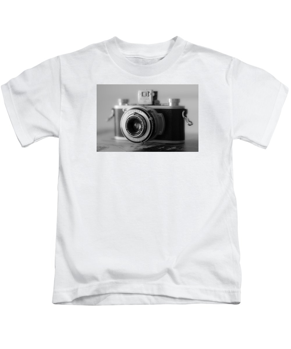 Vintage Camera Kids T-Shirt featuring the photograph Vintage Camera C10p by Otri Park