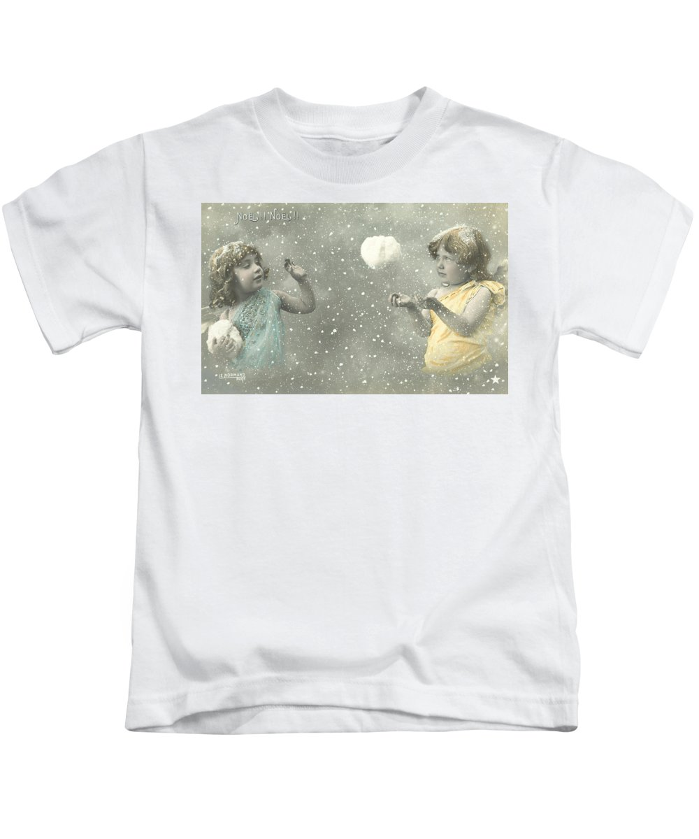 Star Kids T-Shirt featuring the photograph Vintage Christmas Card by French School