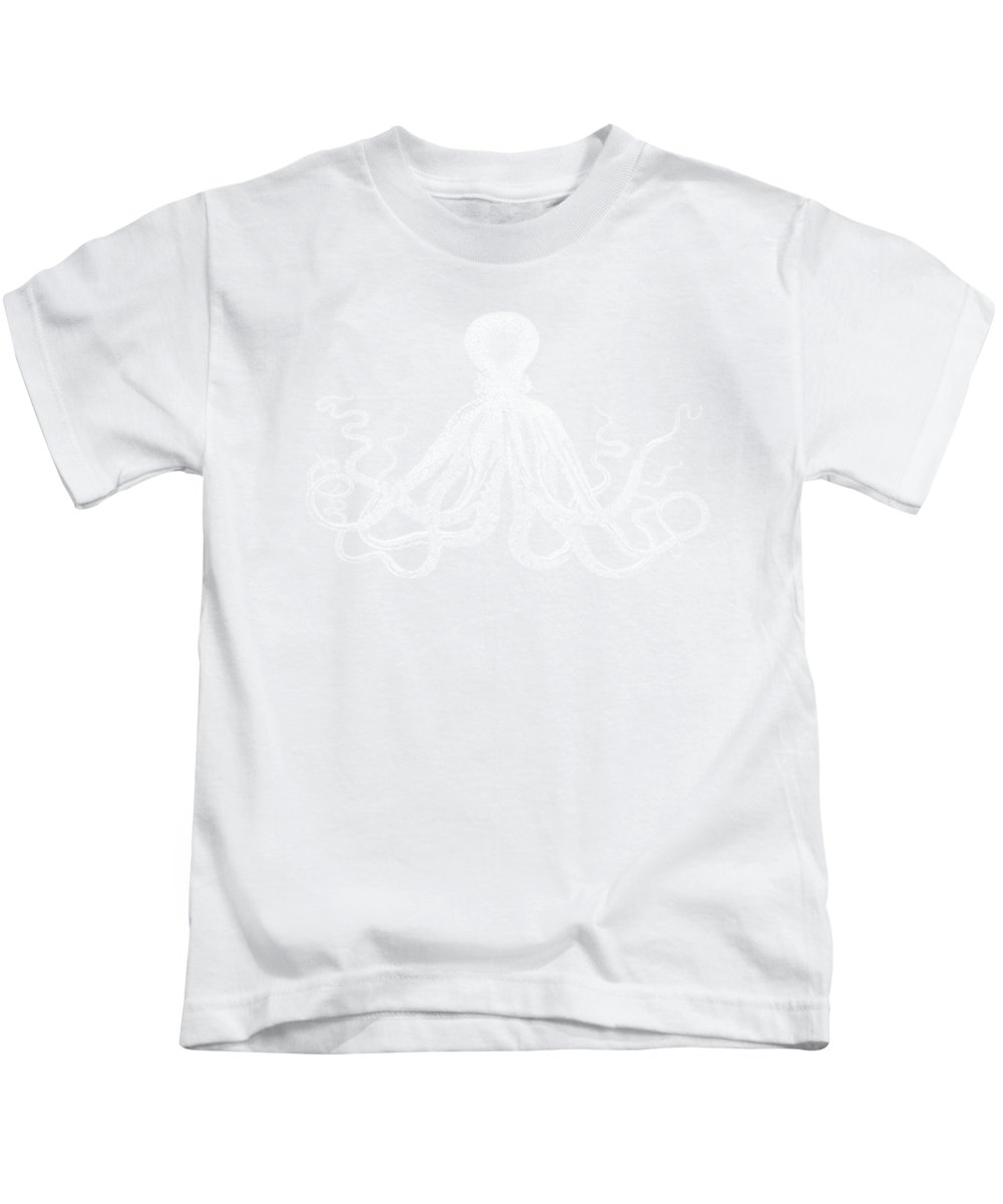 Octopus Kids T-Shirt featuring the digital art Vintage Octopus by Eclectic at HeART