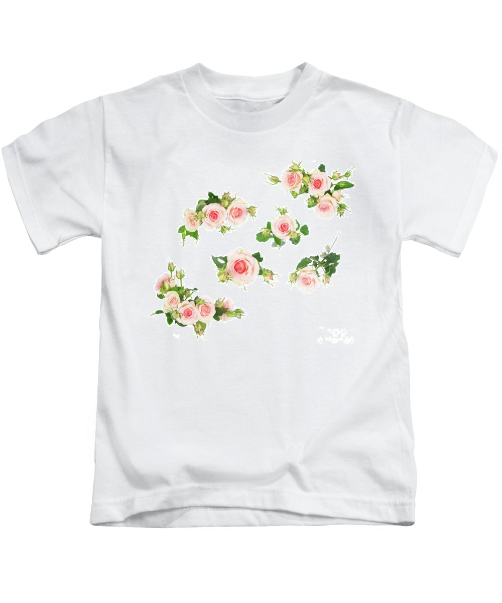 Rose Kids T-Shirt featuring the photograph Graden Roses by Anastasy Yarmolovich