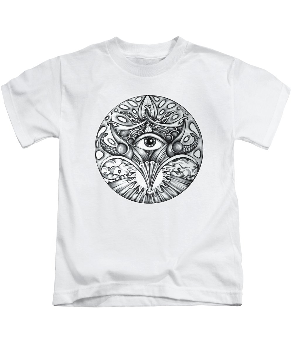 Eye Kids T-Shirt featuring the drawing Vision by Shadia Derbyshire