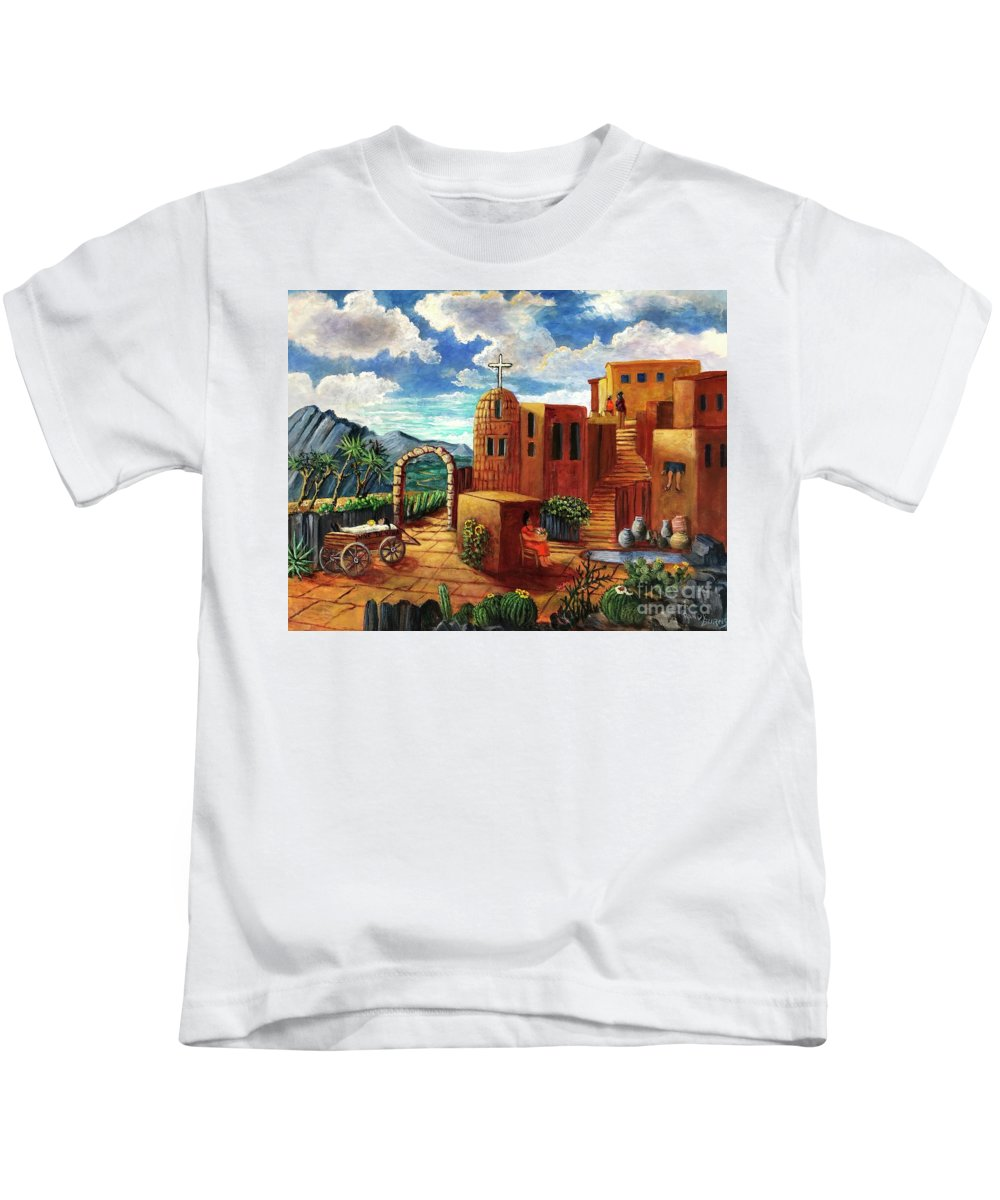 Mexico Kids T-Shirt featuring the painting Vive Tu Vida Live Your Life by Randy Burns