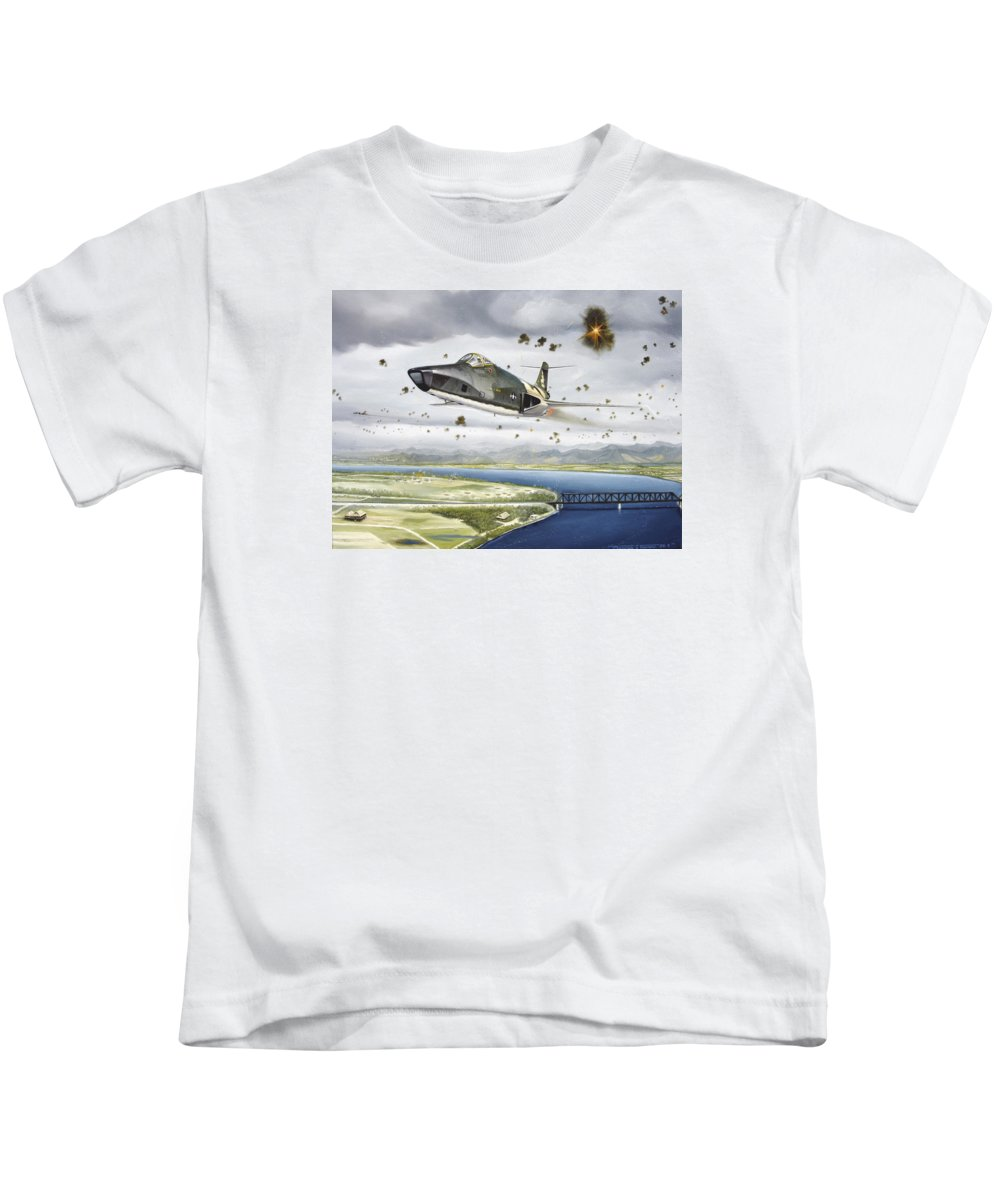 Military Kids T-Shirt featuring the painting Voodoo Vs The Dragon by Marc Stewart