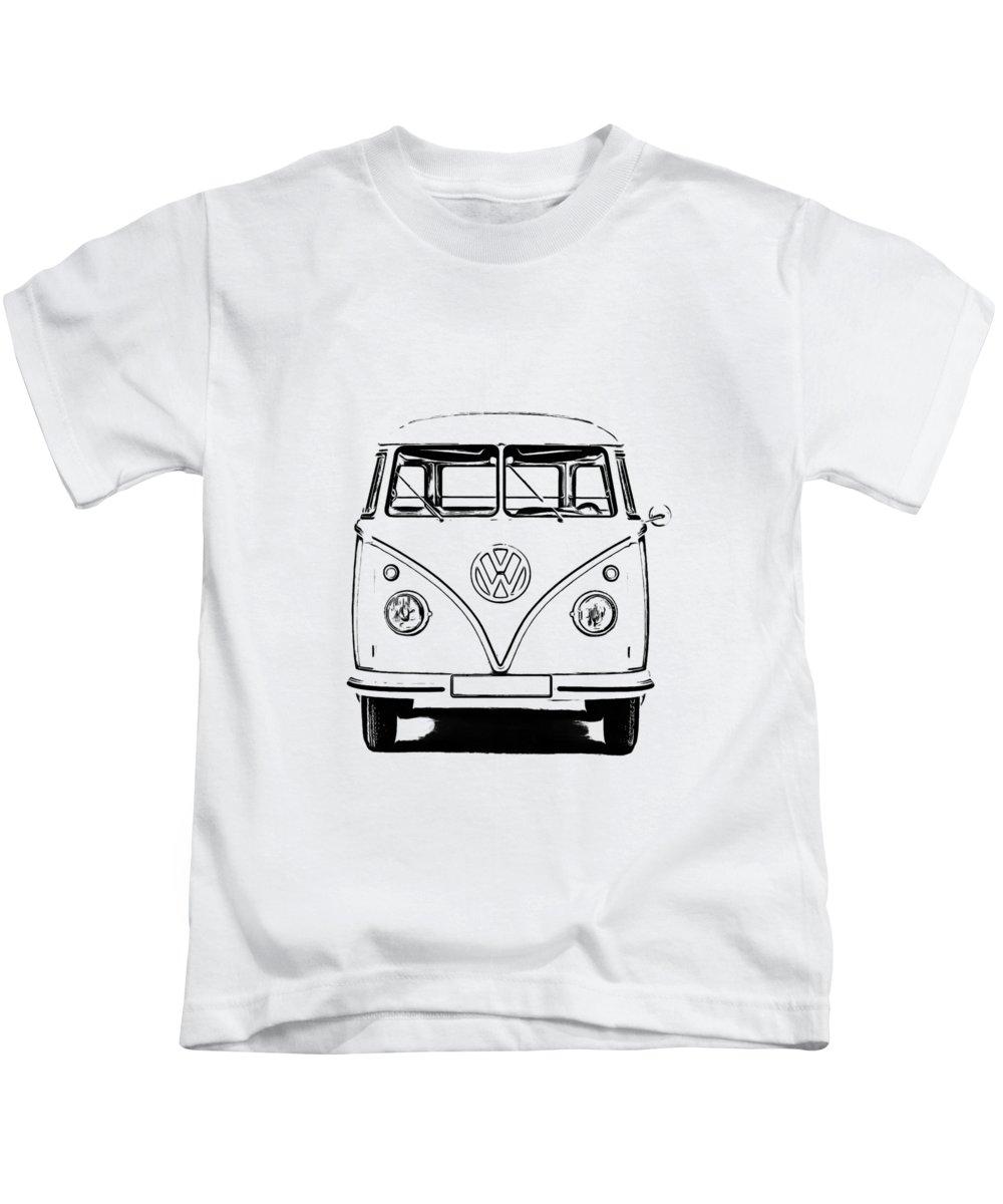 Classic Car Drawings Kids T-Shirts