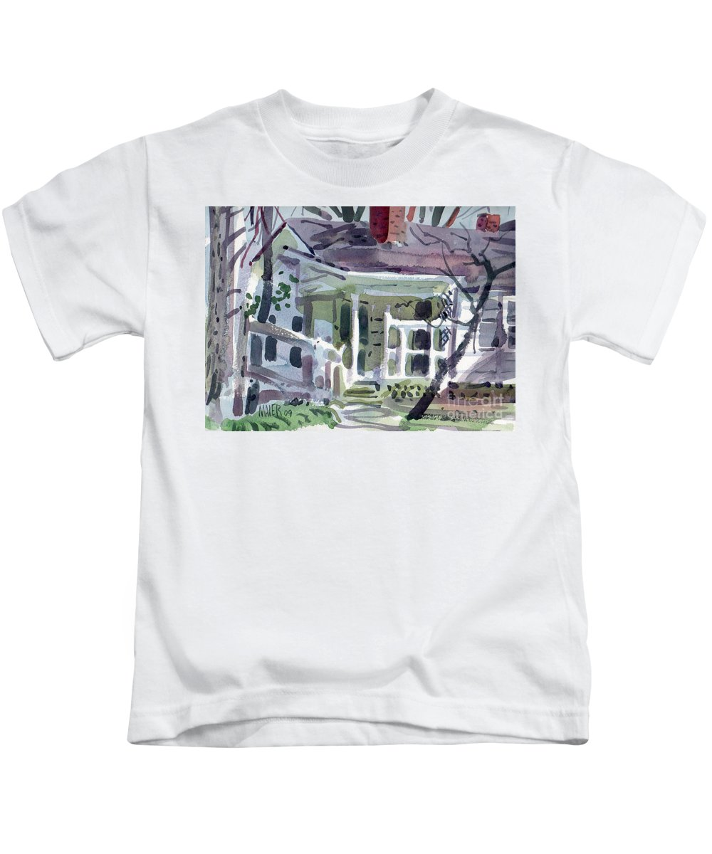Wallis House Kids T-Shirt featuring the painting Wallis House by Donald Maier