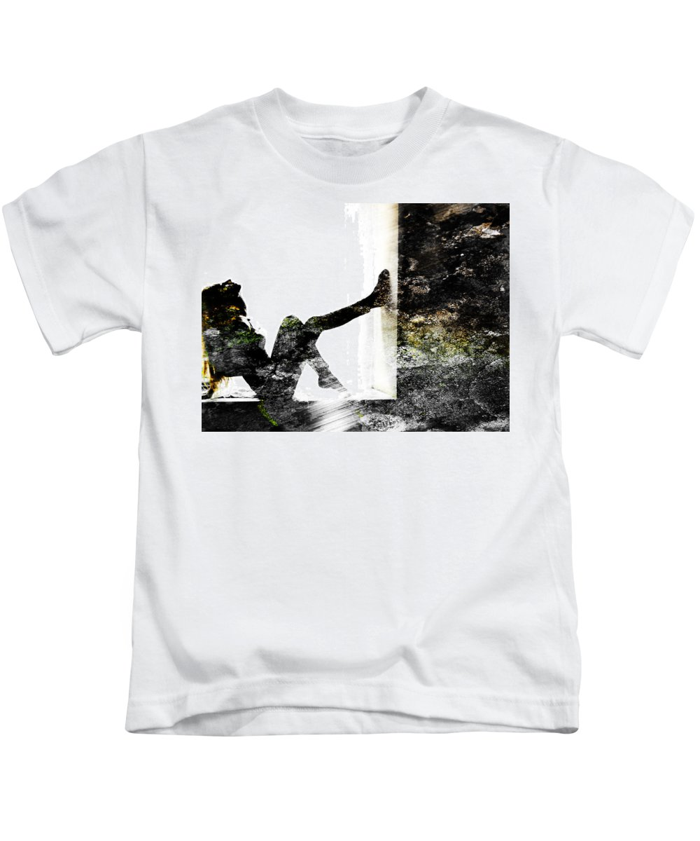 Wall Kids T-Shirt featuring the photograph Walls Walks by Alex Art and Photo