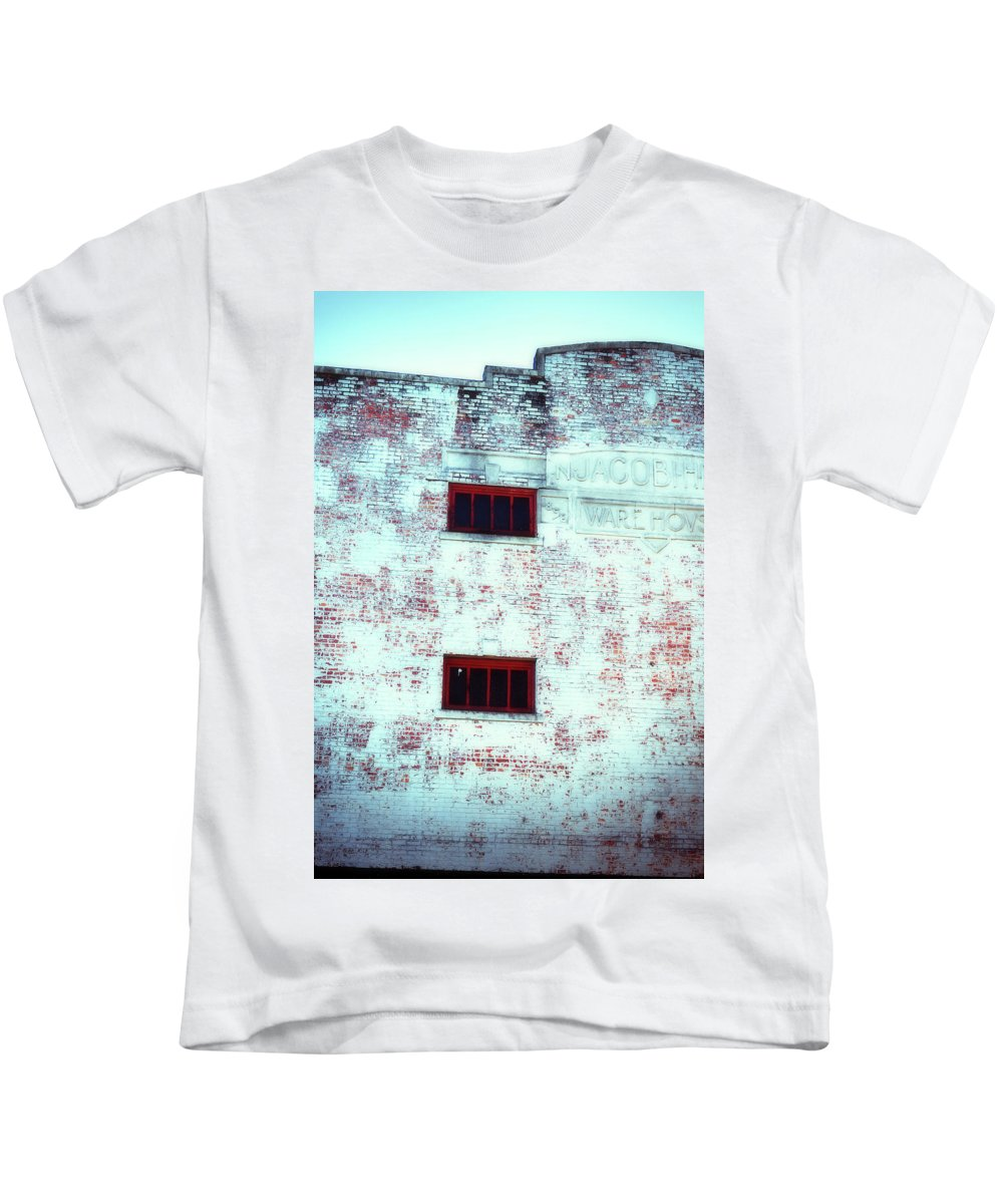 Wright Kids T-Shirt featuring the photograph Warehouse by Paulette B Wright