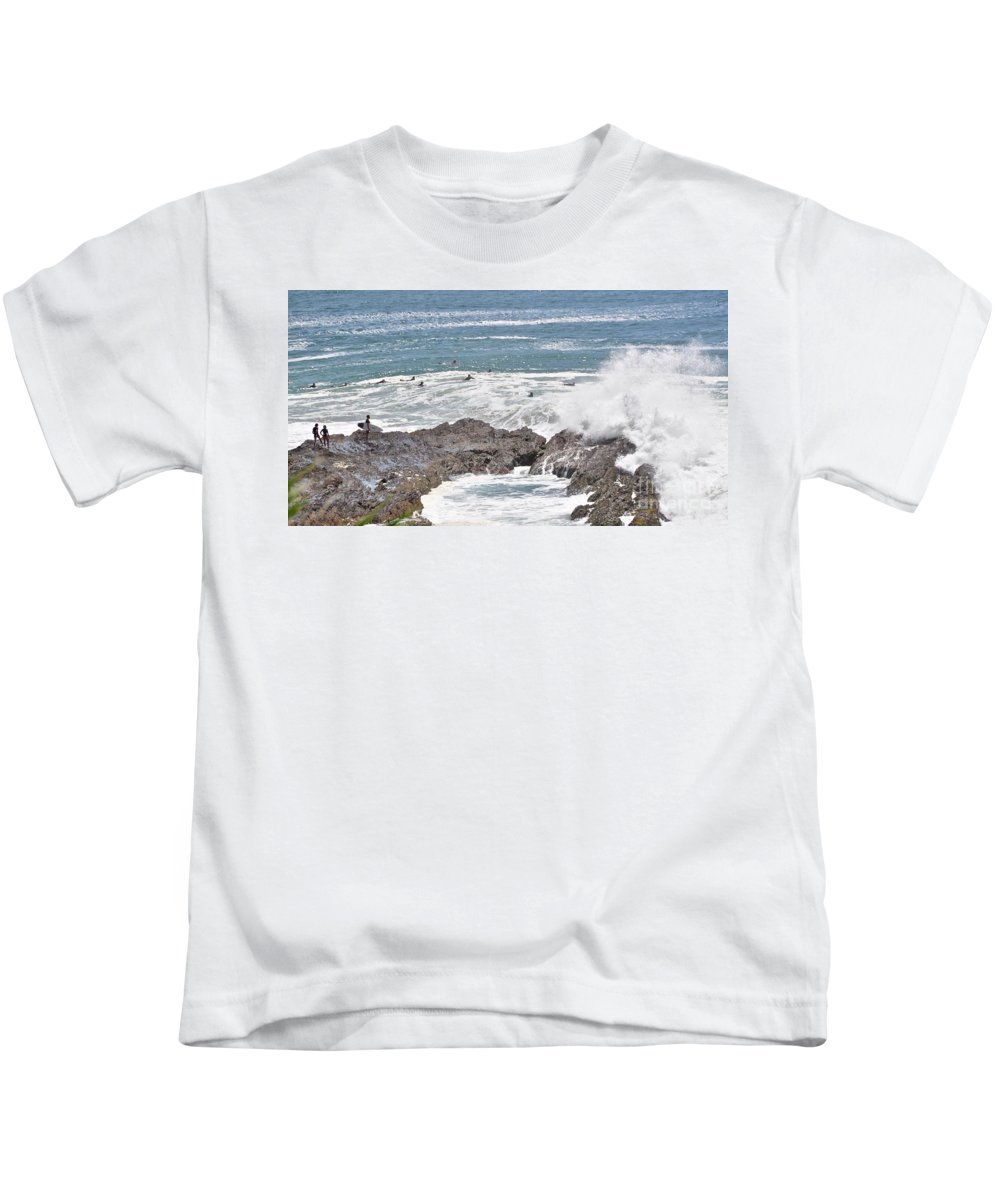 Gold Coast Kids T-Shirt featuring the photograph Watching For Akaw by Csilla Florida